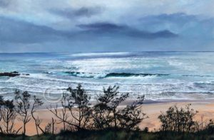 Breaking through the clouds – Little Beach – Scotts Head