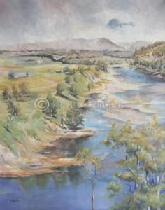 Hawkesbury River I – after Streeton