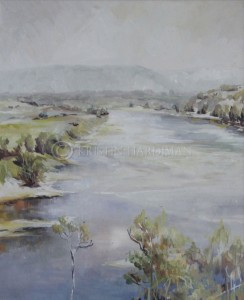 Hawkesbury River II – after Streeton