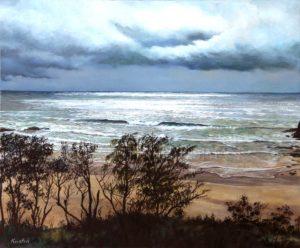 Breaking through the clouds 2 – Little Beach – Scotts Head